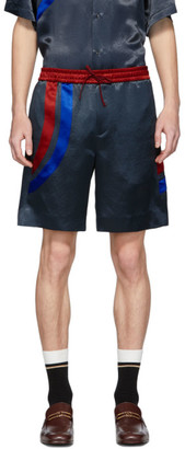 Gucci Black Satin Blitz Shorts