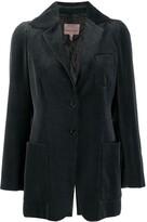 Romeo Gigli Pre Owned 1997 houndstooth slim jacket