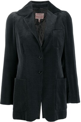 Romeo Gigli Pre Owned 1997 houndstooth slim jacket