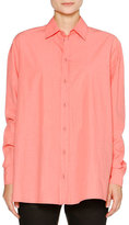 Tomas Maier Balloon-Back Cotton Blouse, Melon