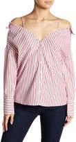 Lucy Paris Cameron Button Up Cold Shoulder Blouse