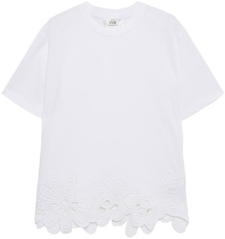 Victoria Victoria Beckham Broderie Anglaise Cotton T-shirt