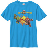Fifth Sun Boys' Tee Shirts Turquoise - Turquoise Hulk vs. Iron-Man Fight Tee - Boys