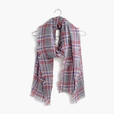 Madewell Openweave Scarf in Avery Plaid