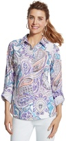 Chico's Effortless Paisley Wrinkle-Free Shirt