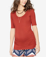 A Pea in the Pod Maternity Ruched Elbow-Sleeve Tee