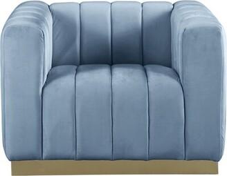 Everly Quinn Stoker Armchair Fabric: Sky Blue