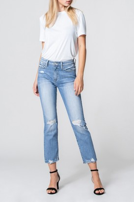 Flying Monkey Venice Distressed Cropped Straight Leg Jeans