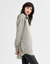 Weekday moira blouse in mole
