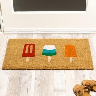 west elm Nickel Designs Hand-Painted Doormat - Popsicle