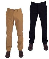 "Gabicci Mens Classic Four Pocket Zip Fly Twill Chinos Trousers by Size 30""-38"""