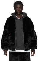 Landlord Black Faux-Fur Bomber Jacket