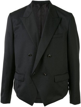 Fumito Ganryu Cropped Double Breasted Blazer