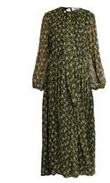 MSGM Floral-print silk maxi dress