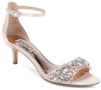 Badgley Mischka Women's Lara Embellished Kitten Heel Sandals