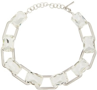 Alessandra Rich Emerald-cut Crystal Choker - Crystal