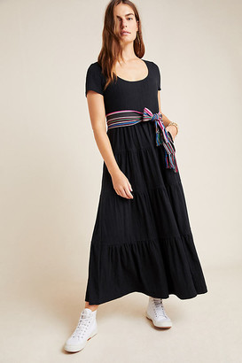 Maeve Gillian Tiered Maxi Dress By in Black Size XS P
