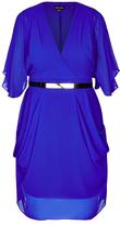 City Chic Colour Wrap Dress