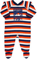Petit Bateau STRIPED COTTON FLEECE FOOTIE