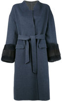 Liska - belted coat - women - Mink Fur/Cashmere/Wool - S