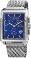 Akribos XXIV Unisex Silver Tone Strap Watch-A-918ssbu