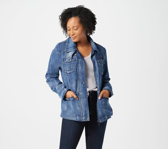 Sam Edelman Denim Jacket with Snap Placket and Pockets
