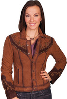 Scully Women's Western Suede Studded Yoke Jacket L170