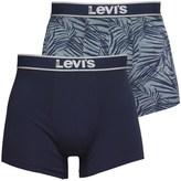 Levi's 200SF Mandola Leaf Print Two Pack Boxer Briefs Navy