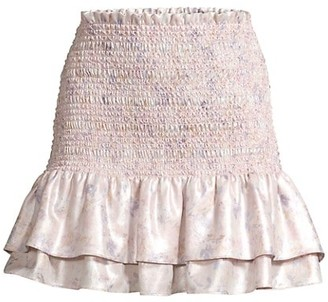 LIKELY Kenzie Smocked Flare Skirt