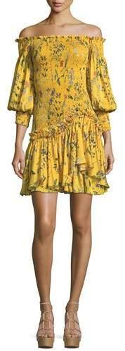 Alexis Gemina Off-the-Shoulder Floral-Print Dress