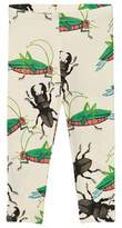 Mini Rodini Off White Insects Leggings
