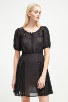 French Connection Dawn Mix Lace Panelled Dress