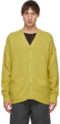 Tanaka Green Cashmere Blend Cardigan