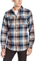 Burnside Men's Shutdown Plaid Flannel Button Down Long Sleeve Shirt