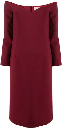 L'Autre Chose Off-Shoulder Dress