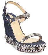 Christian Louboutin Pyraclou Denim Platform Sandals
