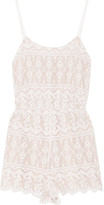 Alice + Olivia Cassia Lace Playsuit - White