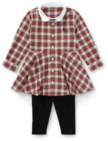 Ralph Lauren Plaid Shirtdress & Legging Set