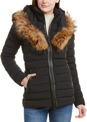 Mackage Kadalina Leather-Trim Down Jacket