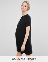 Asos Shift Dress With Chiffon Overlay