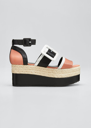 Pierre Hardy Alphasun 80mm Colorblock Platform Espadrilles