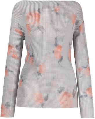 Emporio Armani Sheer Rose Print Top