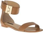 RACHEL ZOE Gladys Flat Sandal Natural Leather