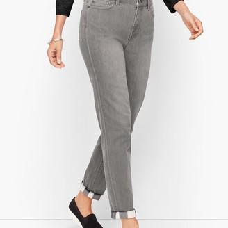 Talbots Flannel Cuff Ankle Jeans - Zinc Wash