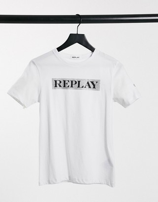 Replay Bold Logo T-shirt in White