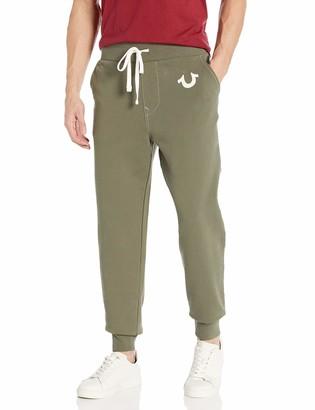 True Religion Men's Classic Logo Slim Fit Jogger Sweatpant
