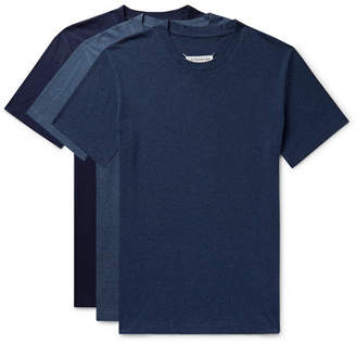 Maison Margiela Three-Pack Slim-Fit Cotton-Jersey T-Shirts