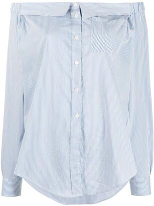 Semi-Couture Off-Shoulder Shirt