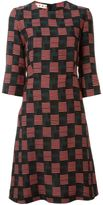 Marni abstract patterned dress - women - Silk/Wool - 38