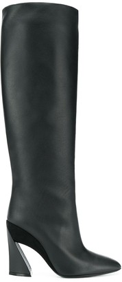Salvatore Ferragamo Sculptured Heel 115mm Knee Length Boots
